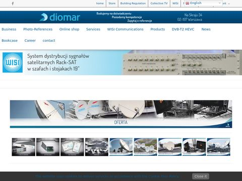 Instalacje TV-SAT Anteny - DIOMAR Sp. z o.o.