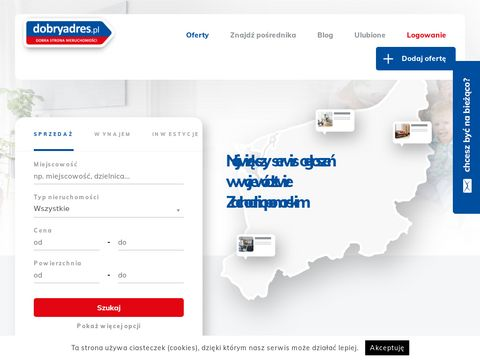 DobryAdres.pl - ogłoszenia nieruchomości. Sprzedaż mieszkań, domów, działek i lokali użytkowych.