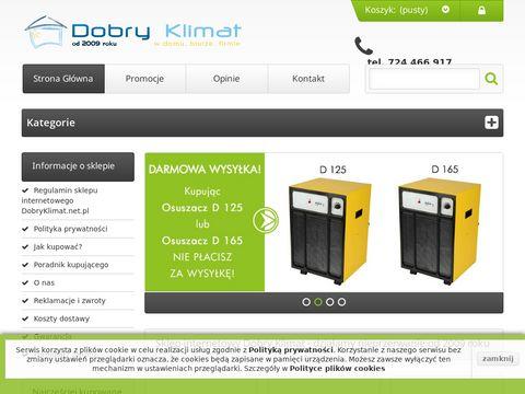 DOBRY KLIMAT | klimatyzatory, wentylatory, nawil偶acze i osuszacze
