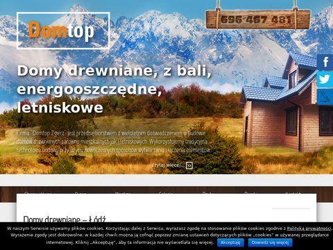 P.H.U. DOMTOP MARIUSZ S臉K producent dom贸w drewnianych