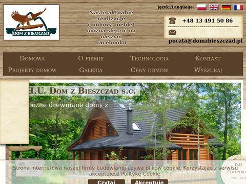 Domy drewniane domy z bali Dom z Bieszczad