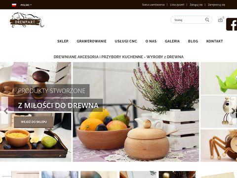 Akcesoria drewniane, naczynia oraz przybory kuchenne - Sklep Drewpart