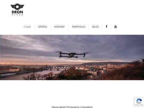 Www.dronsfera.pl Filmowanie z drona