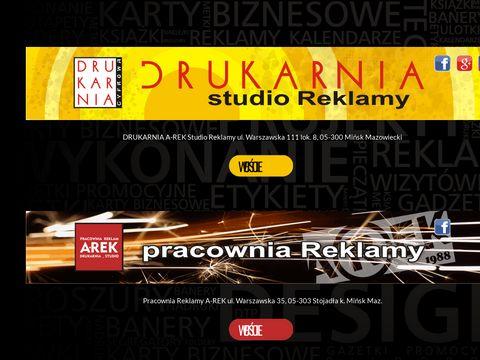 DRUKARNIA A-REK Reklamy Pracownia i Studio Graficzne Mi艅sk Mazowiecki
