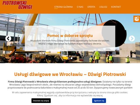 Wynajem dźwigów Oława Świdnica Wrocław