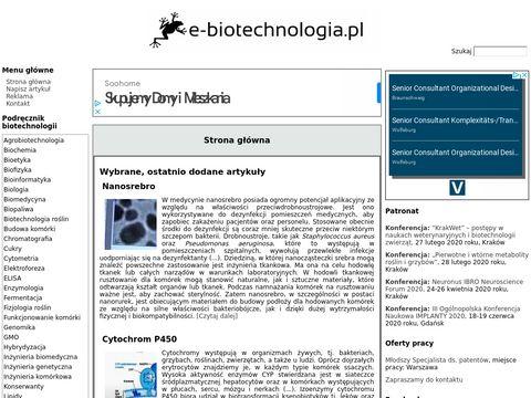 Biotechnologia - portal naukowy