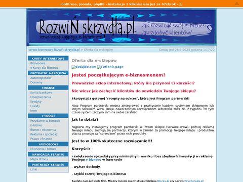 Rozwiń skrzydła.pl - Oferta dla e-sklepów
