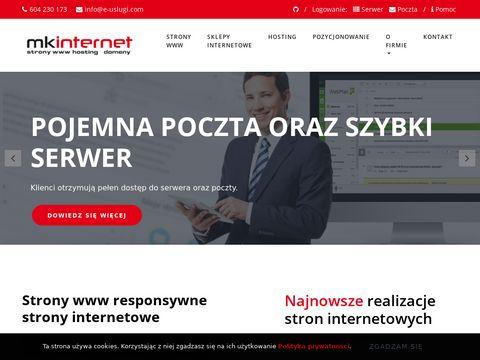 e-uslugi - projektowanie i tworzenie stron www