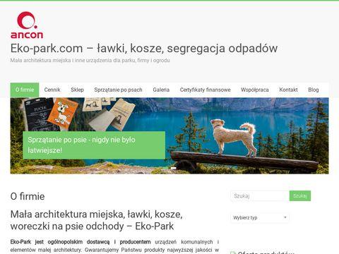 Kosze i Å'awki miejskie, uliczne, parkowe - Eko-park.com