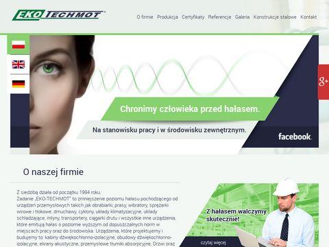 EKO-Techmot | Redukukcja Poziomu Ha艂asu | Kabiny i Obudowy D藕wi臋koszczelne | Ostr贸w Wielkopolski
