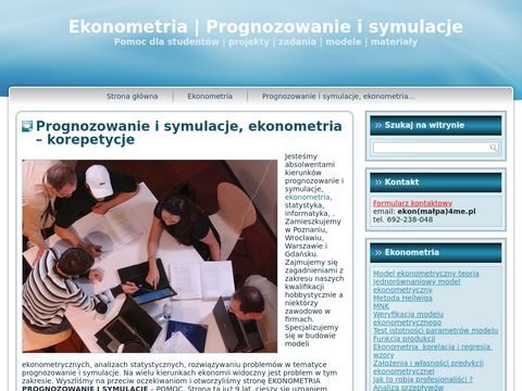 Ekonometria, prognozowanie i symulacje
