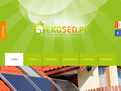 EKOSED kolektory s艂oneczne, solary, pompy ciep艂a, panele fotowotlaiczne
