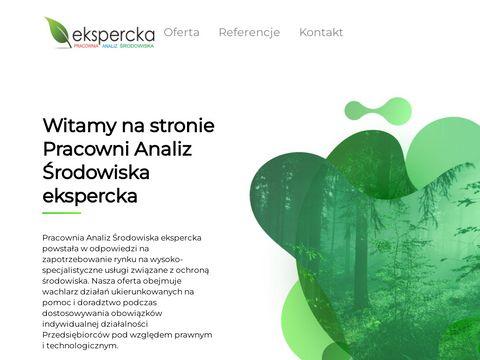 ekspercka - Pracownia Analiz Środowiska | dokumentacja, oceny, analizy, pomiary z zakresu ochrony środowiska