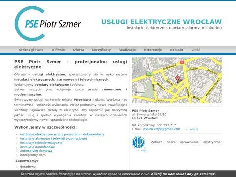 PSE Piotr Szmer - elektryk Wrocław