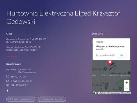 ELGED Inowrocław - Hurtownia Elektryczna