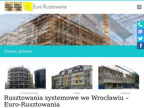 EURO-RUSZTOWANIA wynajem rusztowań Wrocław