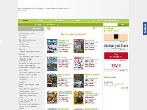 Czasopisma i prasa zagraniczna prenumerata