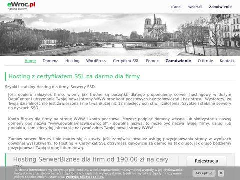 eWroc.pl - Hosting dla firm, serwery we Wrocławiu, eWroc.pl