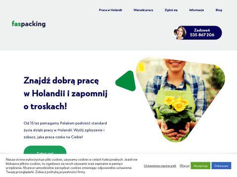 Faspacking.pl - praca w holandii