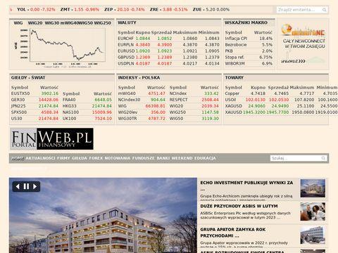 Finweb.pl - Waluty, Gie艂da, Biznes - Portal Finansowy