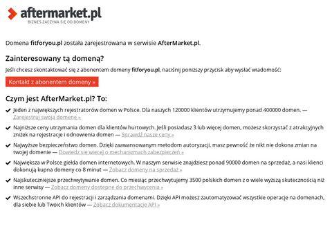 Internetowy sklep sportowo - turystyczny| FitForYou.pl