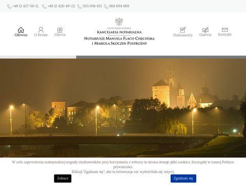 Kancelaria notarialna Kraków - Flach-Chęcińska