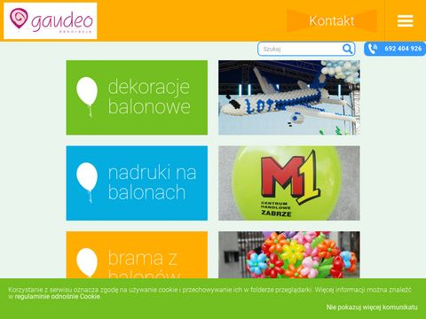Dekoracje balonowe - Gaudeo Balonowe Studio Dekoracji