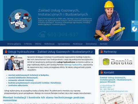 GazInstal.net - Instalacje gazowe, przyłącza gazowe lublin
