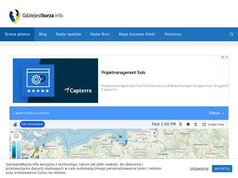 Gdzie Jest Burza | Mapa burzowa Polski | Burze