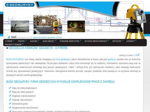 Geodezja: Geodeta Kraków - O firmie - Geosurvey