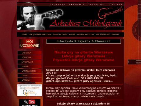 Arkadiusz Mikoajczuk gitarzysta klasyczny i flamenco. GitArt
