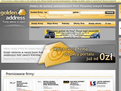 Portal dla firm, baza firm Golden Address