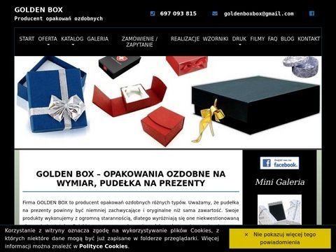 GOLDEN BOX - Producent opakowań ozdobnych