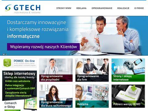 GTECH - informatyka & reklama - Tarnowskie G贸ry, strony www, hosting, serwery, domeny, wizyt贸wki, ulotki, etykiety IML, sieci komputerowe