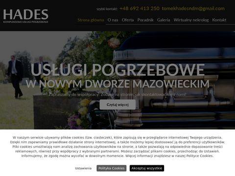 HADES zak艂ad pogrzebowy nowy dw贸r mazowiecki