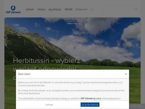 Herbitussin.pl - pokonaj przezi臋bienie