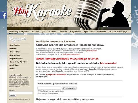 Hity Karaoke - podkłady muzyczne karaoke i aranże Mp3 Audio dla zespołów i wokalistów