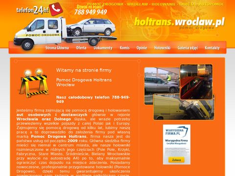 Pomoc Drogowa Wrocław Holtrans