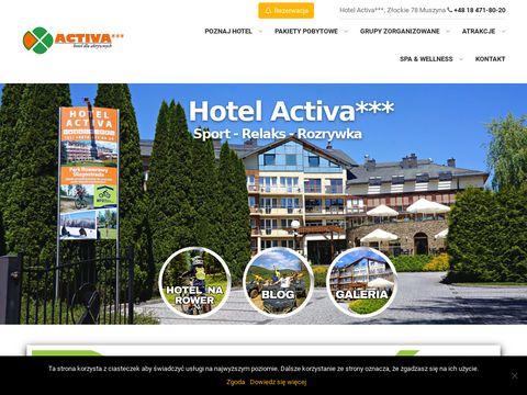 Wczasy i urlop w Polsce - Hotel Activa w Muszynie