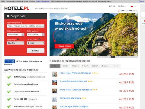 Wyszukiwarka hoteli, rezerwacja online