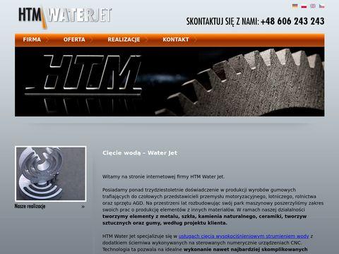 Htm-Waterjet - ci臋cie stali i blach