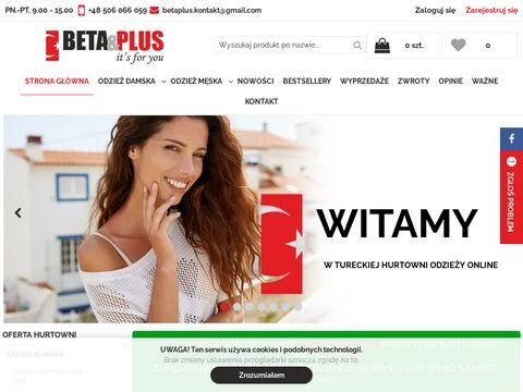Hurtownia Beta Plus - odzież damska do Twojego sklepu