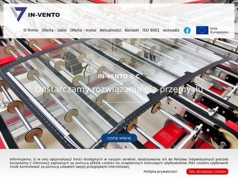 In-Vento – Folia EVA, Maszyny do Szkła, Szlifierki do szkła
