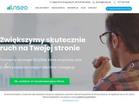 Pozycjonowanie strony - Wrocław Agencja INSEO