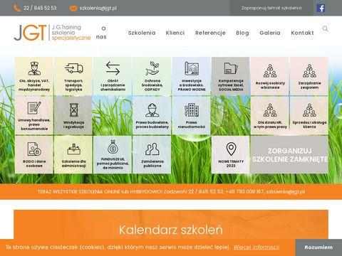 Szkolenia pracowników - www.jgt.pl