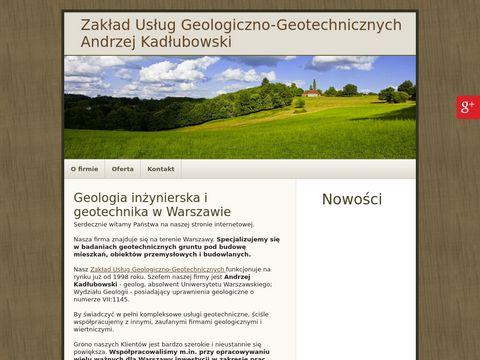 A.KAD�UBOWSKI usługa geotechniczna warszawa