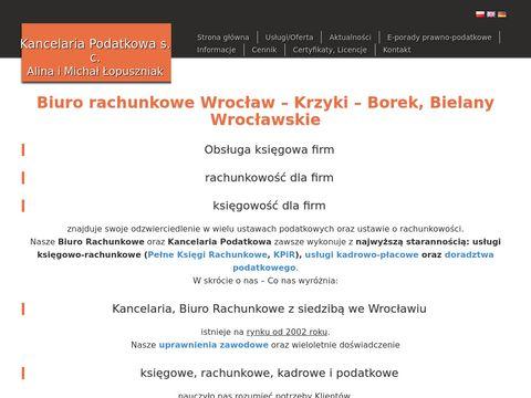Kancelaria podatkowa, biuro rachunkowe Wrocław