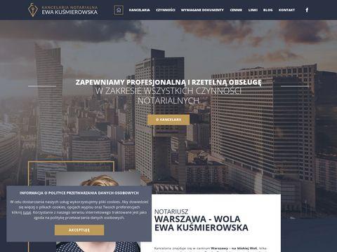 Kancelaria notarialna w centrum Warszawy - Ewa Kuśmierowska