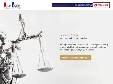 Porady prawne Lublin - www.kancelaria-siedlec.pl