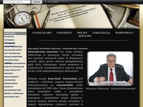 Kancelaria Notarialna Warszawa - Do艣wiadczony Notariusz